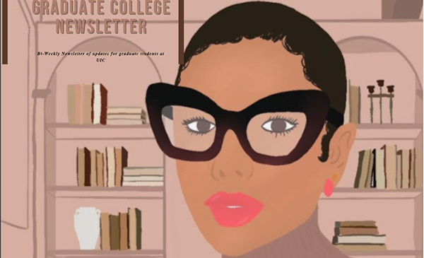 Student of color wearing glasses.